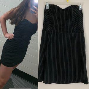 pin strip black sweetheart dress